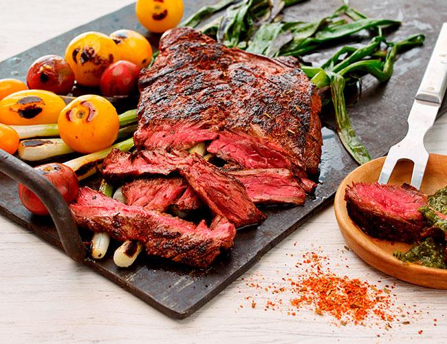 Esplette pepper rub on steak
