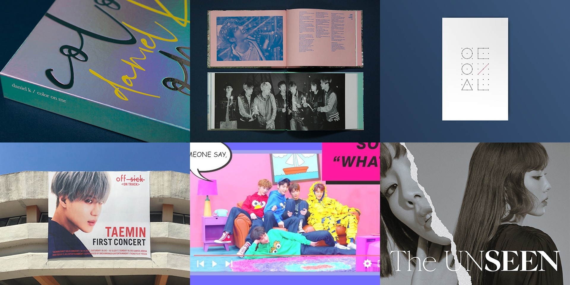 Jiyoon Lee of Studio XXX shares the processes behind 6 K-Pop albums and posters – BTS, Kang Daniel, LOONA, Taemin, TXT, and Taeyeon