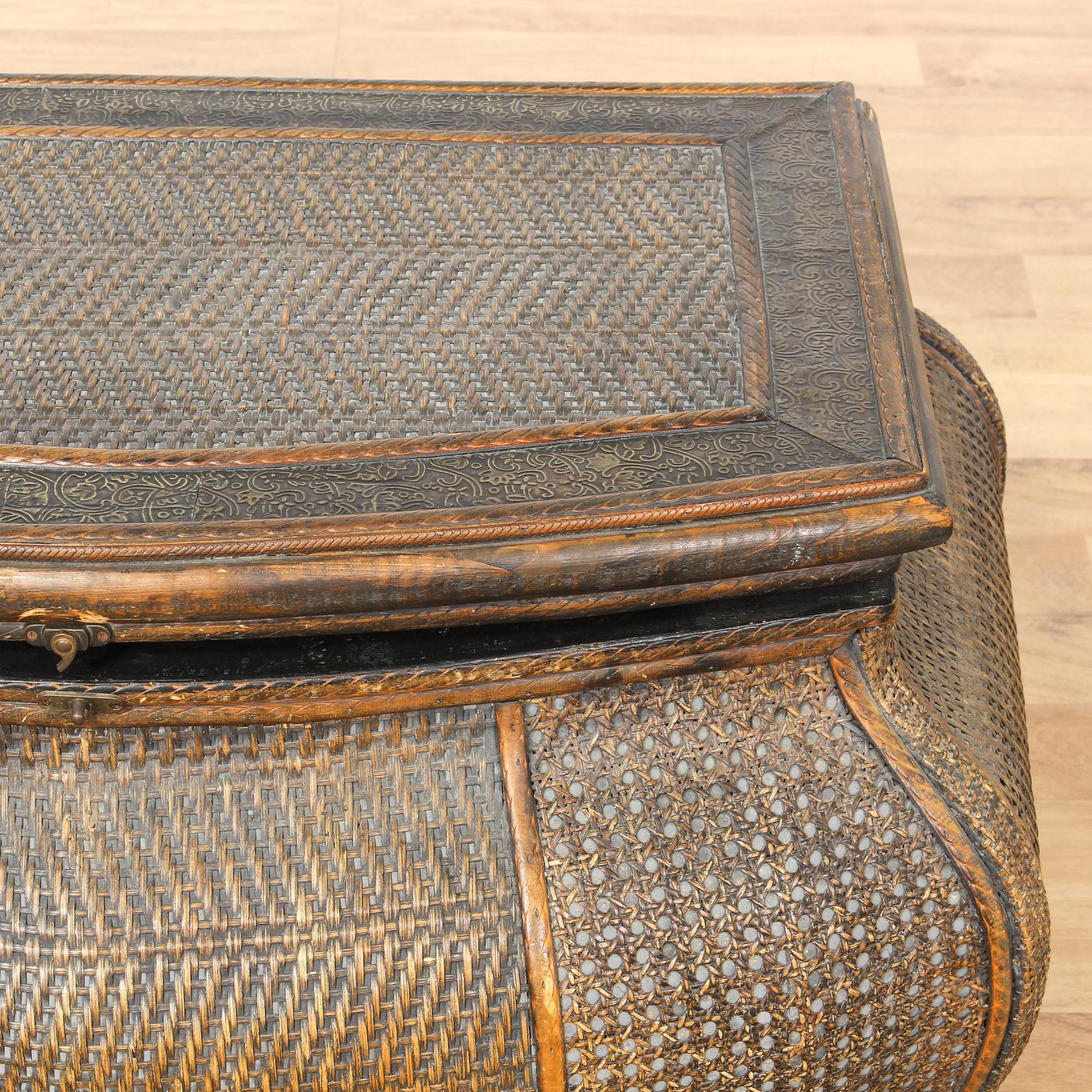 tropical woven bombay trunk loveseat vintage furniture san diego los angeles. Black Bedroom Furniture Sets. Home Design Ideas
