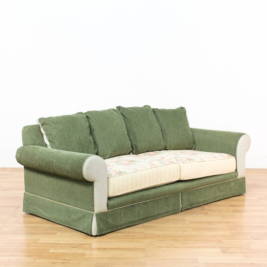 Shabby Chic Multi Colored Upholstered Sofa Loveseat