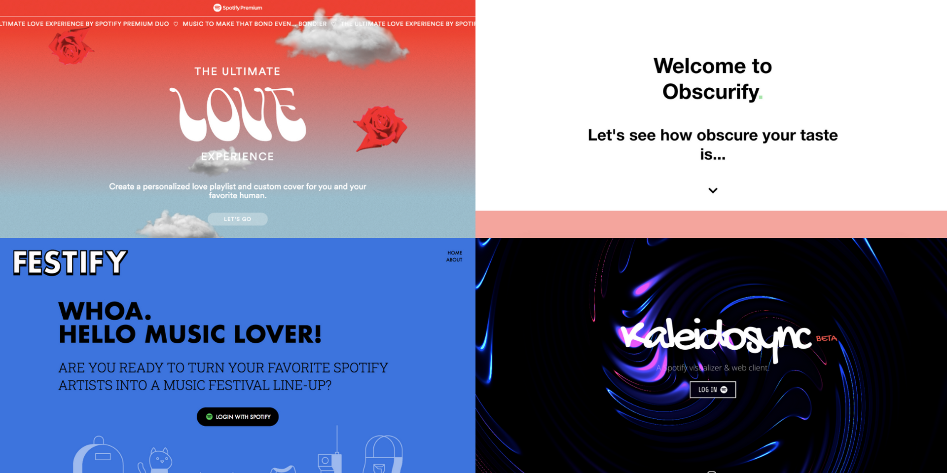 11 apps you can use with your Spotify account: Receiptify, Obscurify, Kaleidosync, and more