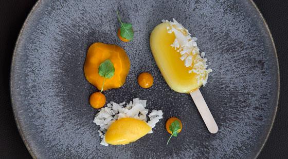 Solero, coconut and clementine