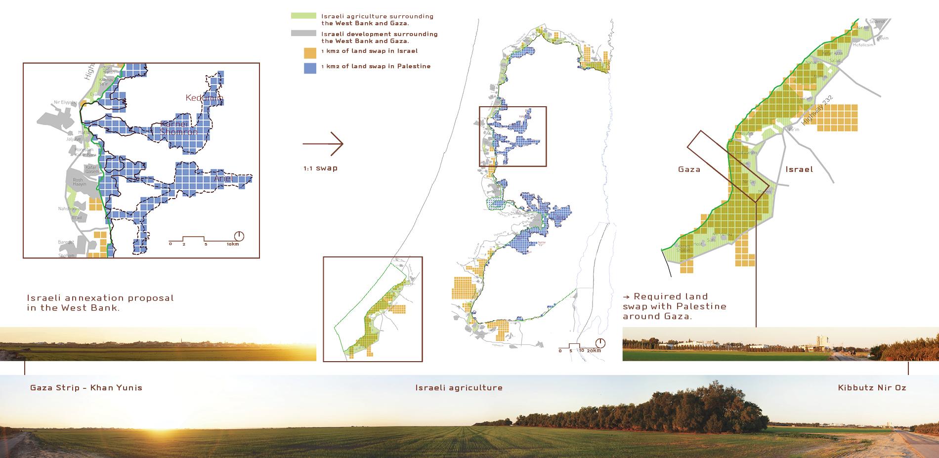 4.1. The landscape of land swaps  - Israeli border effect on agricultural landscapes.