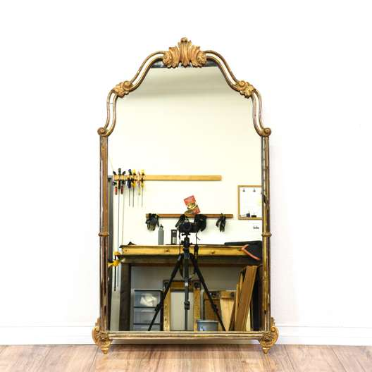 Carved Gold Hollywood Regency Mirror