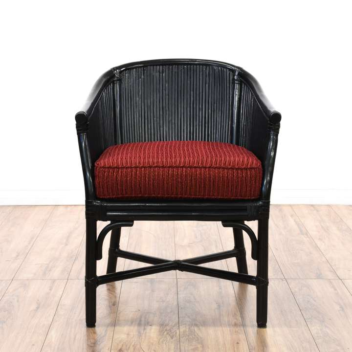 Pair Of Cherry Curved Barrel Cane Back Chairs Loveseat