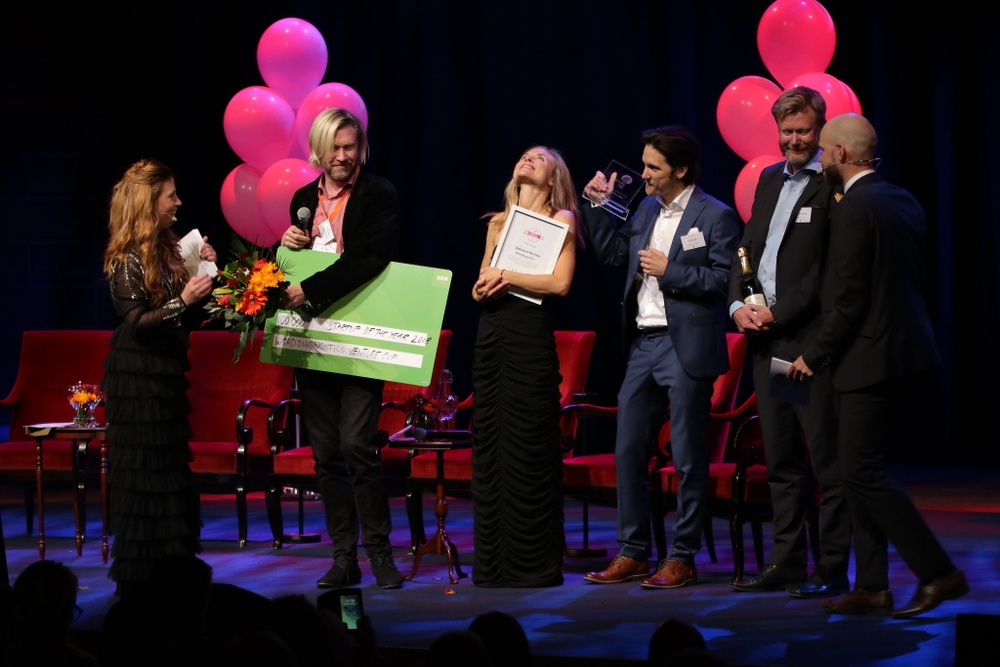 Förra årets vinnare på Startup of the Year, Word Diagnostics från region Syd, på Venture Cups Sverigefinal 2018. Foto: Victor Ackerheim