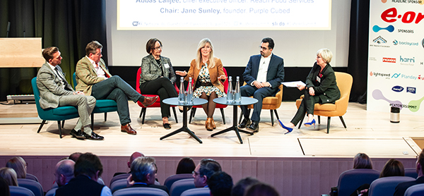 From left: Peter Avis, Robert Cook, Kim Gleske, Sophie Kilic and Abbas Lalljee and Jane Sunley.
