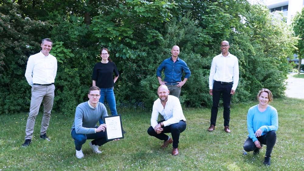 From left back row: Patrik Olsson (CPO), Maria Rang (General manager Sweden), Joachim Sandberg (CFO), Andreas Anyuru (CTO), David Björverud (Accounting Manager), Kent Olsson (CEO) and Brita Ohlin (CHRO).