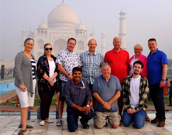 TUCO delegates at the Taj Mahal