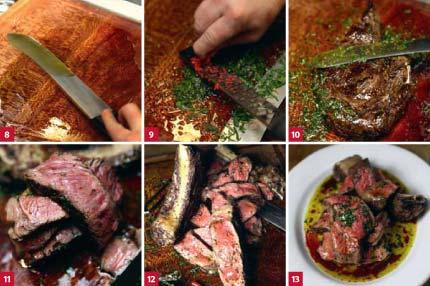 Beef rib finish