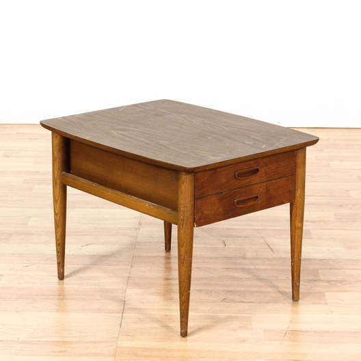 Lane Mid Century Modern 1 Drawer End Table Loveseat Vintage