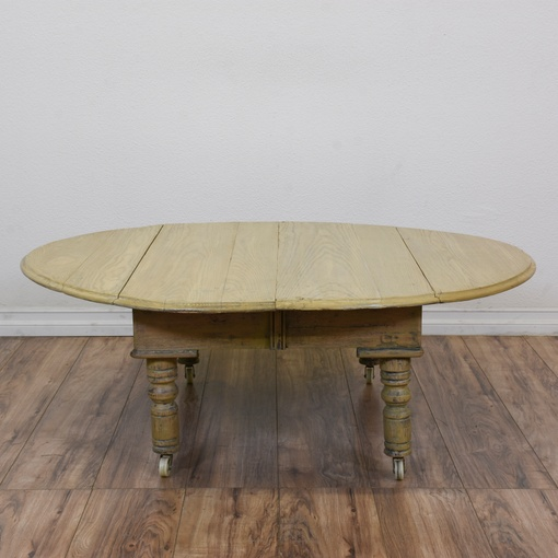 Shabby Chic Coffee Table Nz: Shabby Chic Drop Leaf Coffee Table On Castors