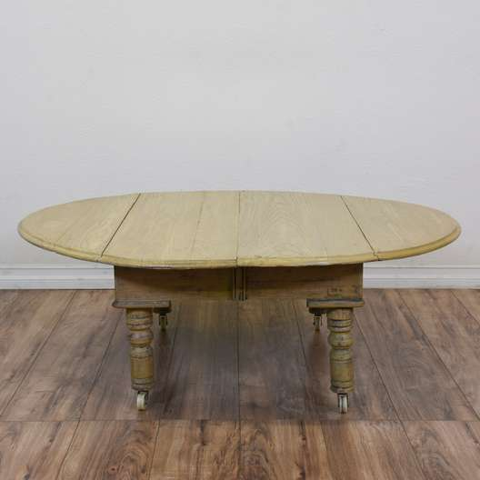 Shabby Chic Drop Leaf Coffee Table on Castors