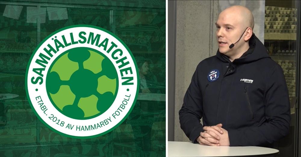 Daniel Aronson, områdeschef på Väsbyhem presenterar årets sommarjobb under en livesändning på sommarjobbsmässan arrangerad av Samhällsmatchen och Stena fastigheter.