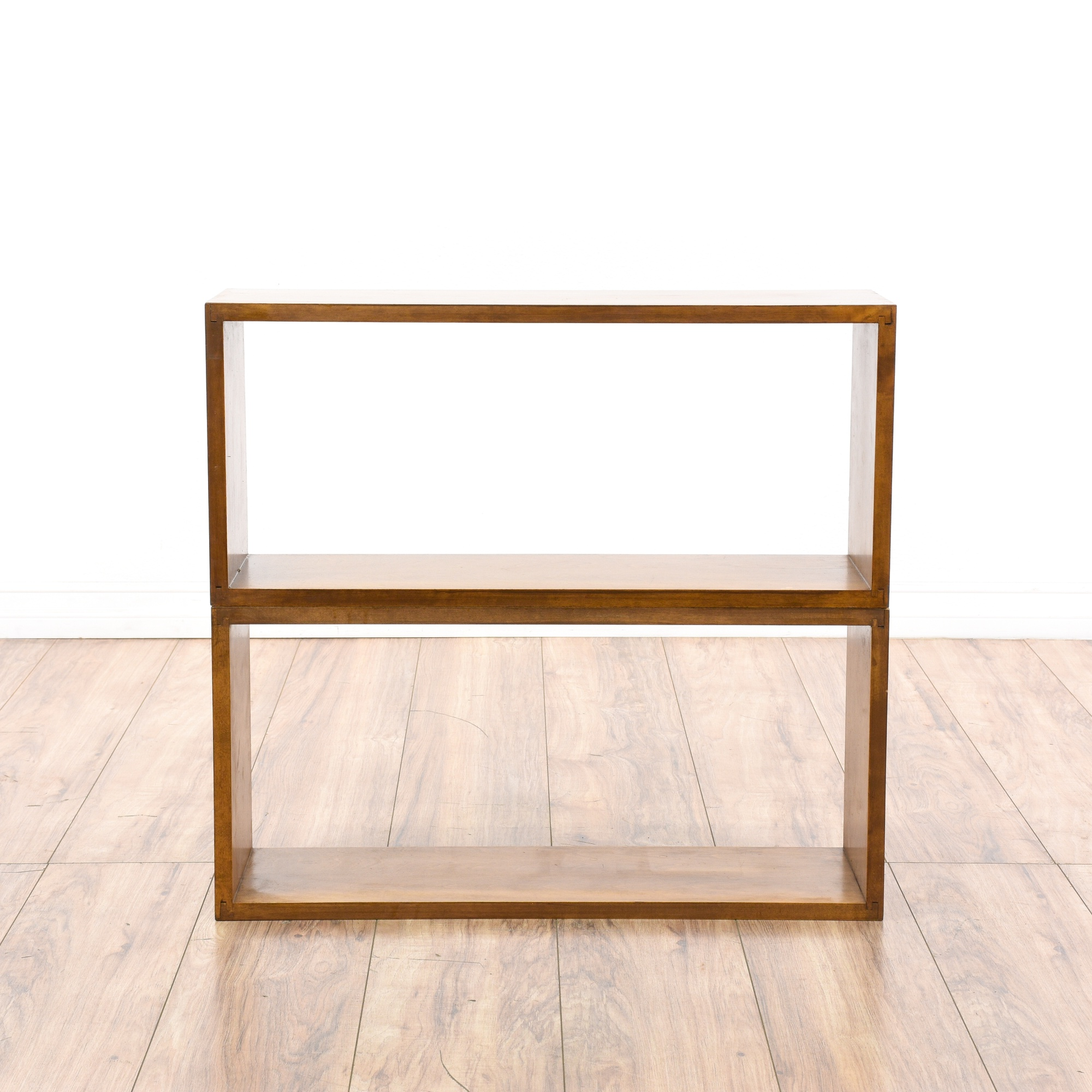 Pair Of Stackable Wood Shadow Box Shelves 2