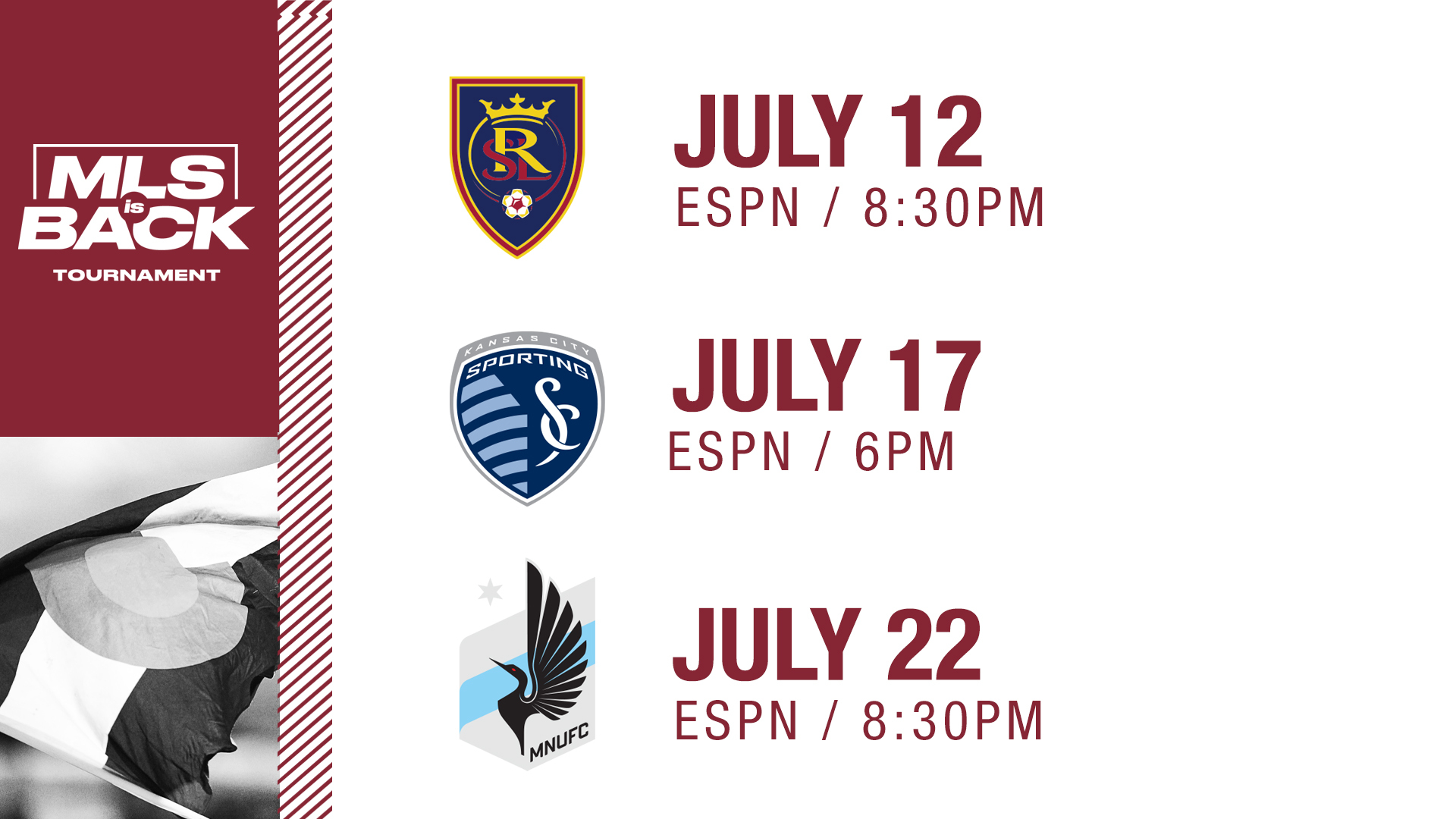 Rapids to Debut July 12 as MLS Reveals Schedule for MLS is Back Tournament 1