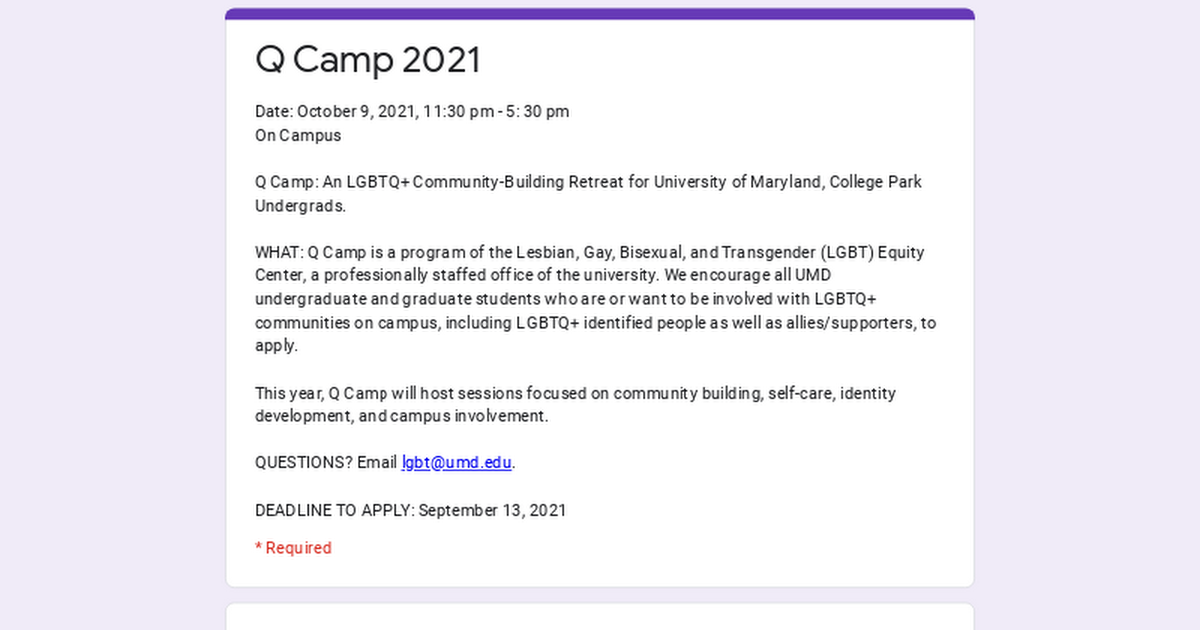 @UMDLGBTEquity Application for Q Camp 2021 Link Thumbnail   Linktree