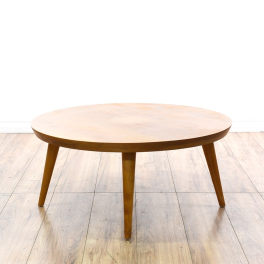 """The Big Ball Coffee Table: Round """"Conant Ball"""" Mid Century Coffee Table"""