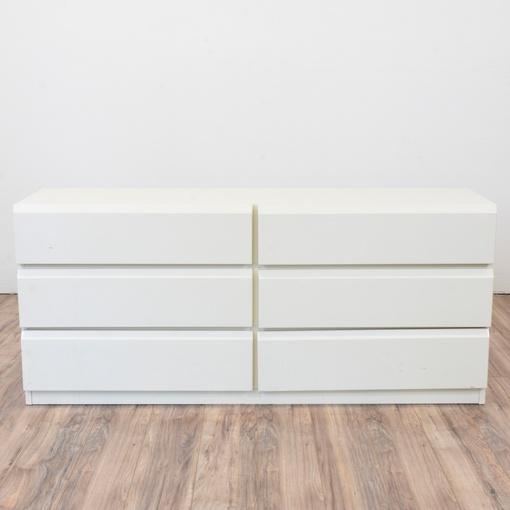 Quot Lane Quot Long Modern White 6 Drawer Dresser Loveseat