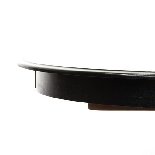 Black Pedestal Base Dining Table W Leaf Loveseat