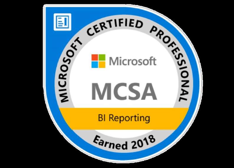 MCSA, BI & Reporting