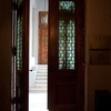 Front door, as seen from inside, Shaar Hashamayim (Adly St) Synagogue, Cairo, Egypt. Joshua Shamsi, 2017.