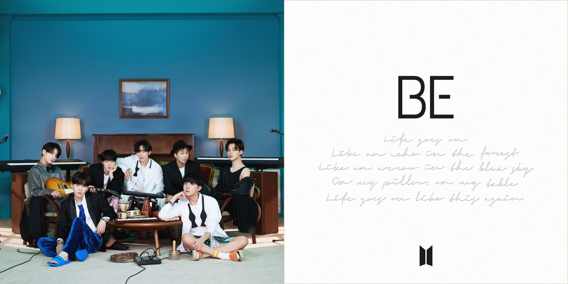 BTS unveil official tracklist and digital cover art for new album, BE