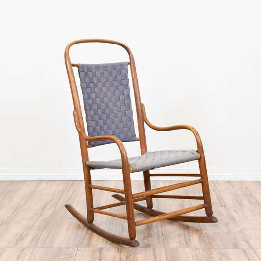 Simple Rustic Bentwood Rocking Chair