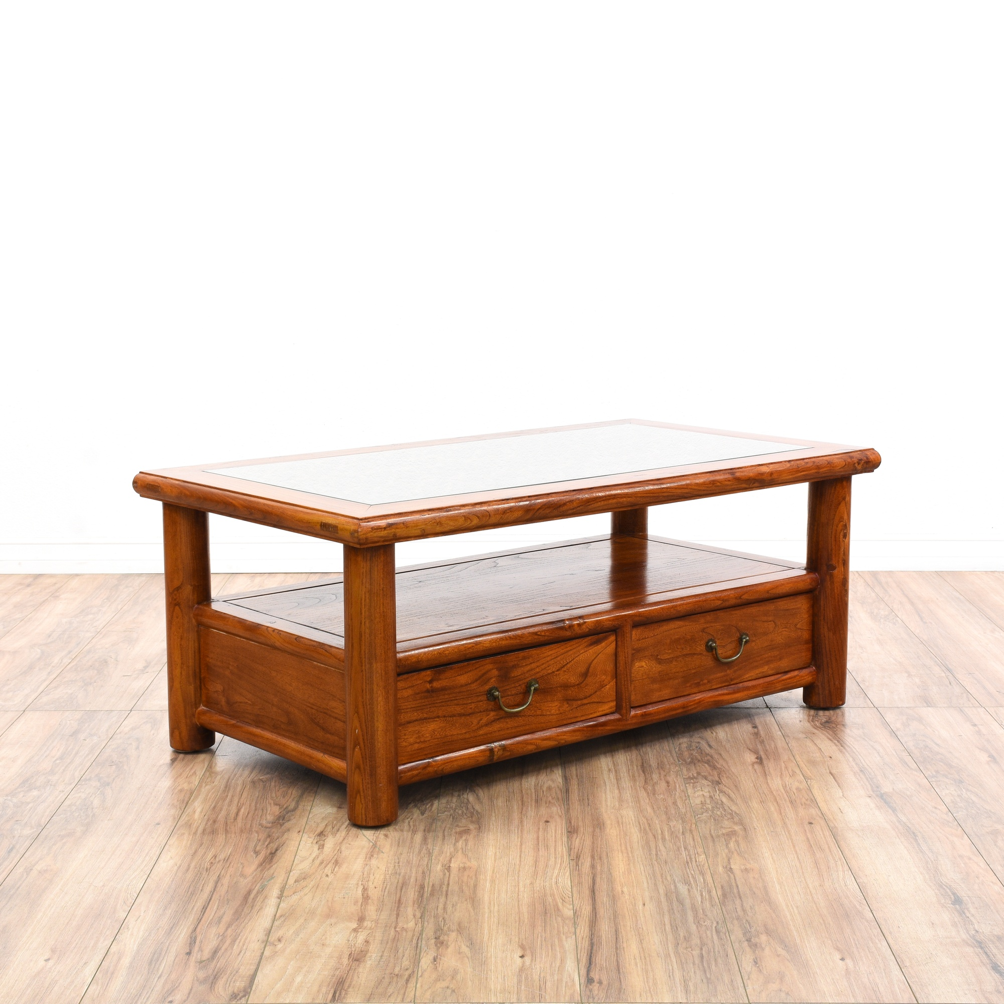 Asian Carved Rosewood Tiered Coffee Table Loveseat Vintage Furniture San Diego Los Angeles