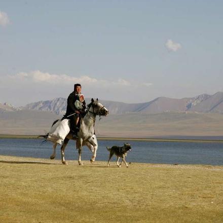 Kyrgyz on horseback