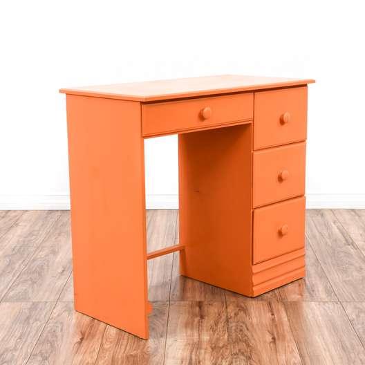 Small Orange Peach Cottage Chic Desk
