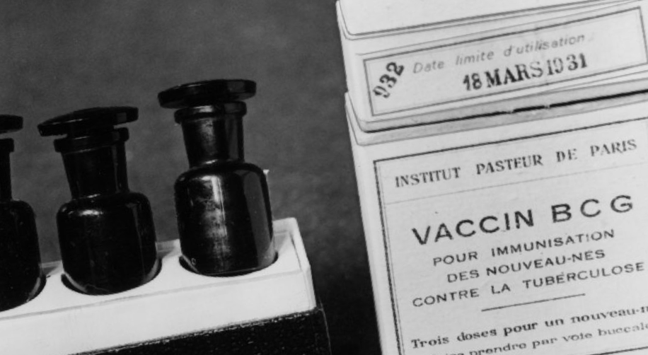 Tuberculosis vaccine black and white