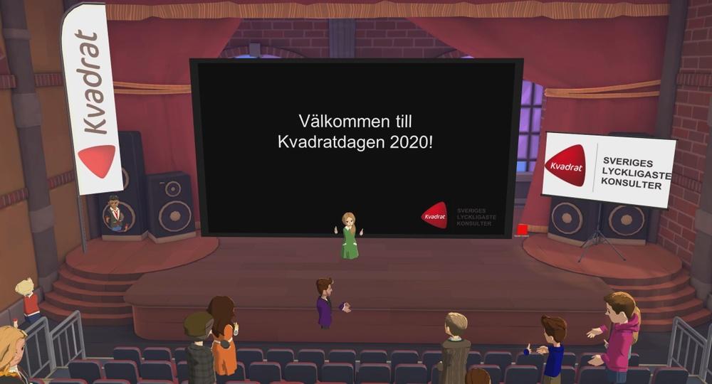 Kvadratdagen VR - pandemisäkert event för externt inbjudna kunder.