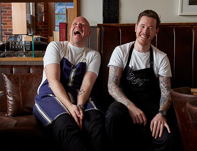 Tom Kerridge and Aaron Mulliss