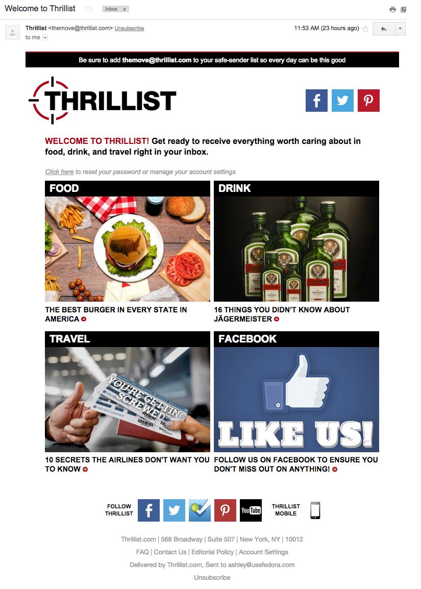 Thrillist Email