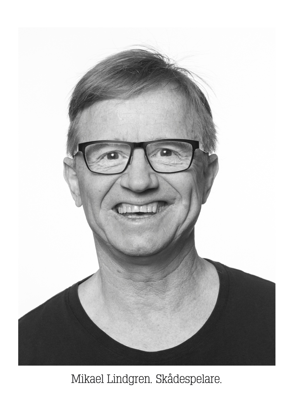 Mikael Lindgren, skådespelare på Västerbottensteatern. Foto: Patrick Degerman.