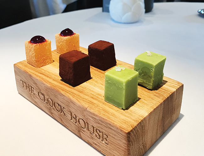 Petits fours at the Clock House, Ripley, Surrey