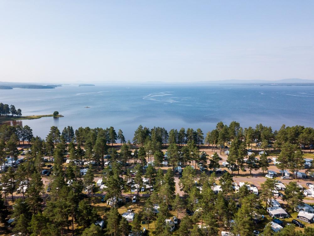 Flygbild två på Orsa Camping