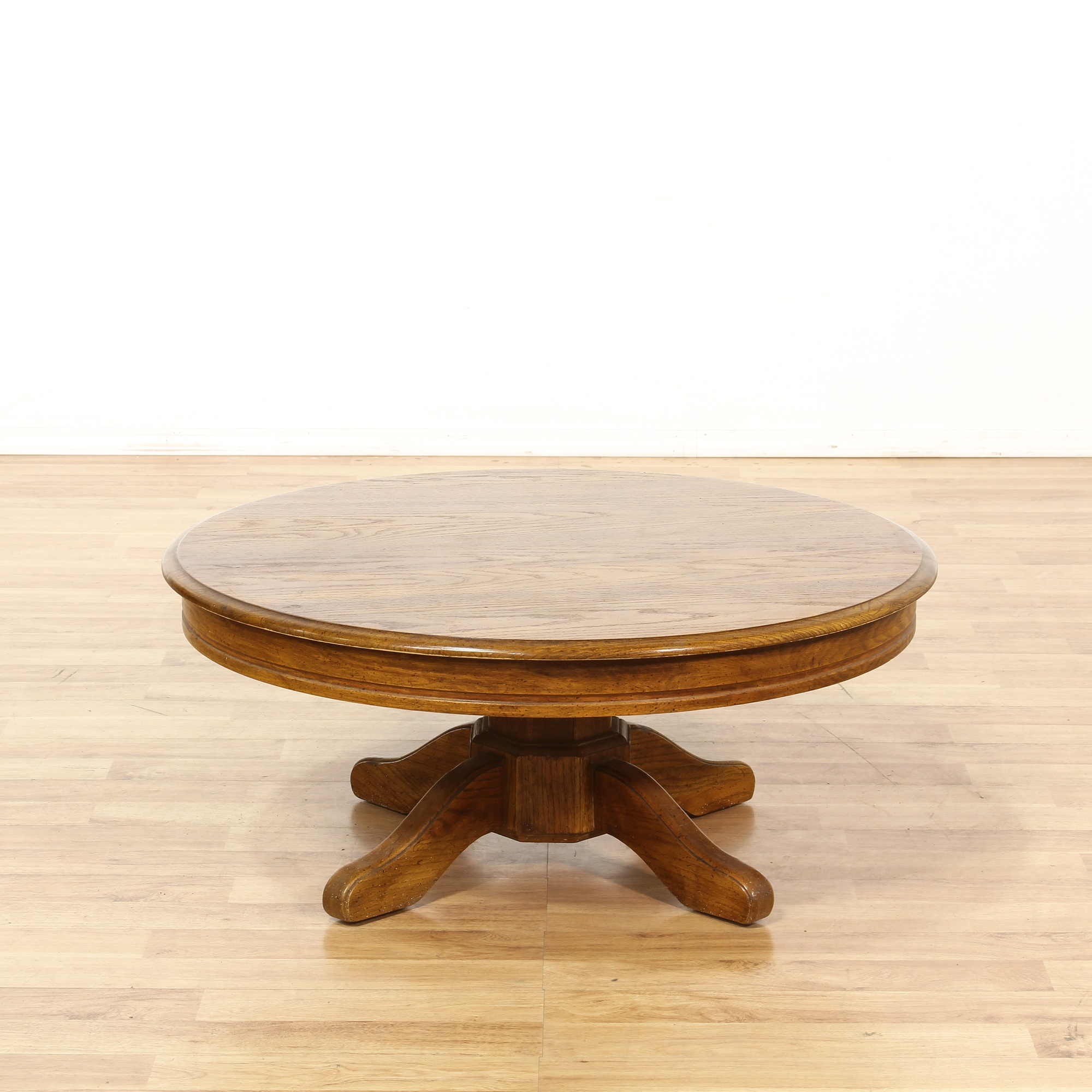 Solid Oak Coffee Table Loveseat Vintage Furniture San Diego Los Angeles