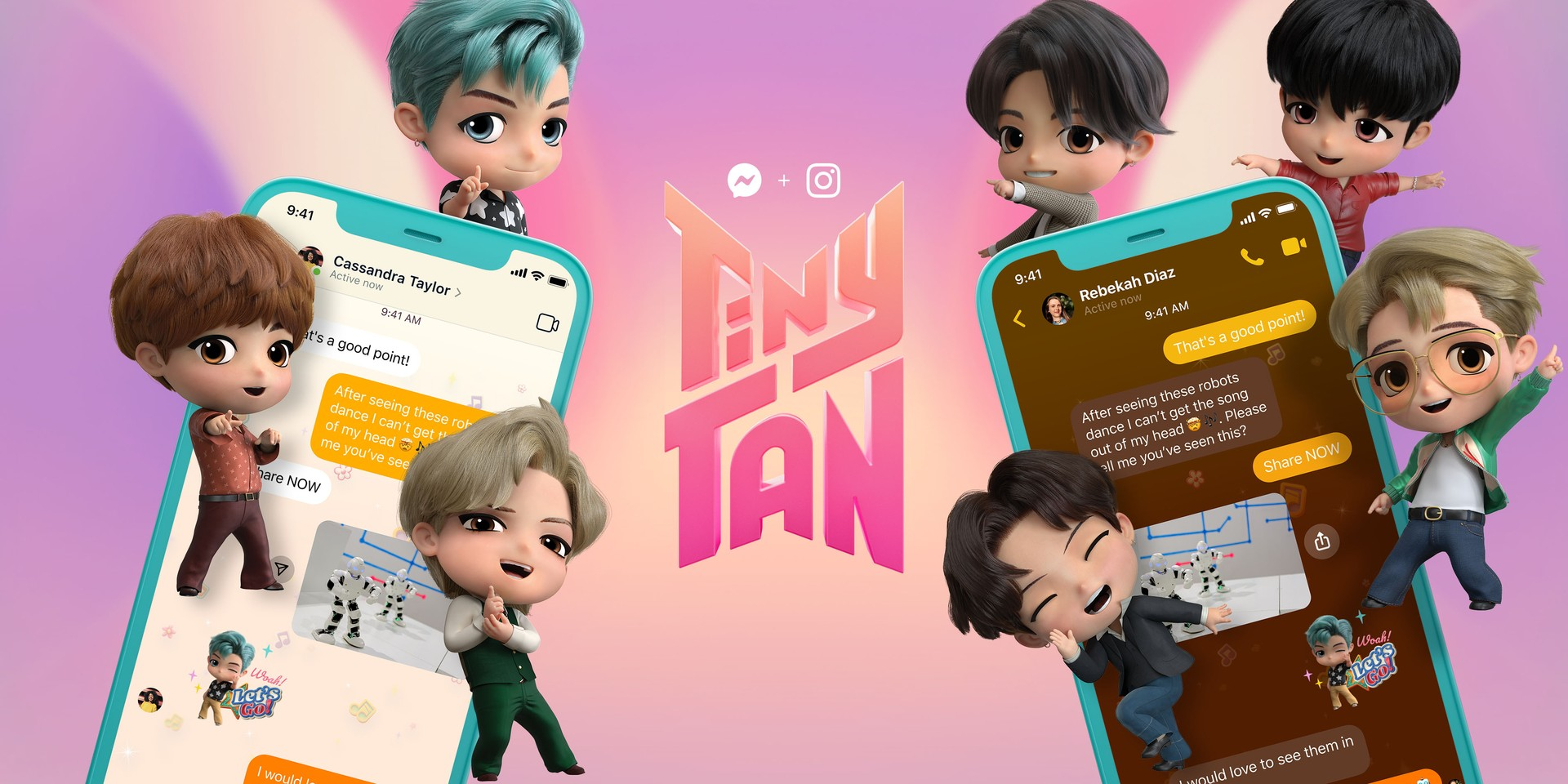 BTS' TinyTAN roll out new 'Dynamite' chat experience on Messenger and Instagram