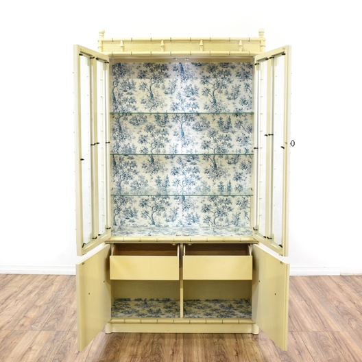Quot Drexel Quot Faux Bamboo China Cabinet Loveseat Vintage