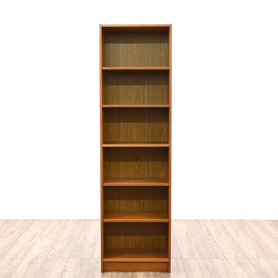 Tall Danish Modern Teak Bookcase Loveseat Vintage