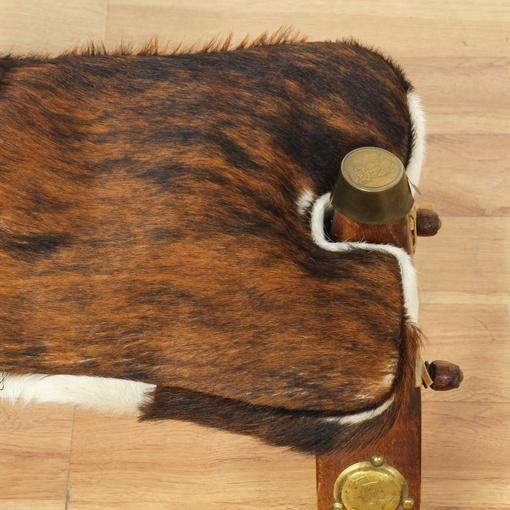 cow hide camel saddle stool loveseat vintage furniture san diego los angeles. Black Bedroom Furniture Sets. Home Design Ideas