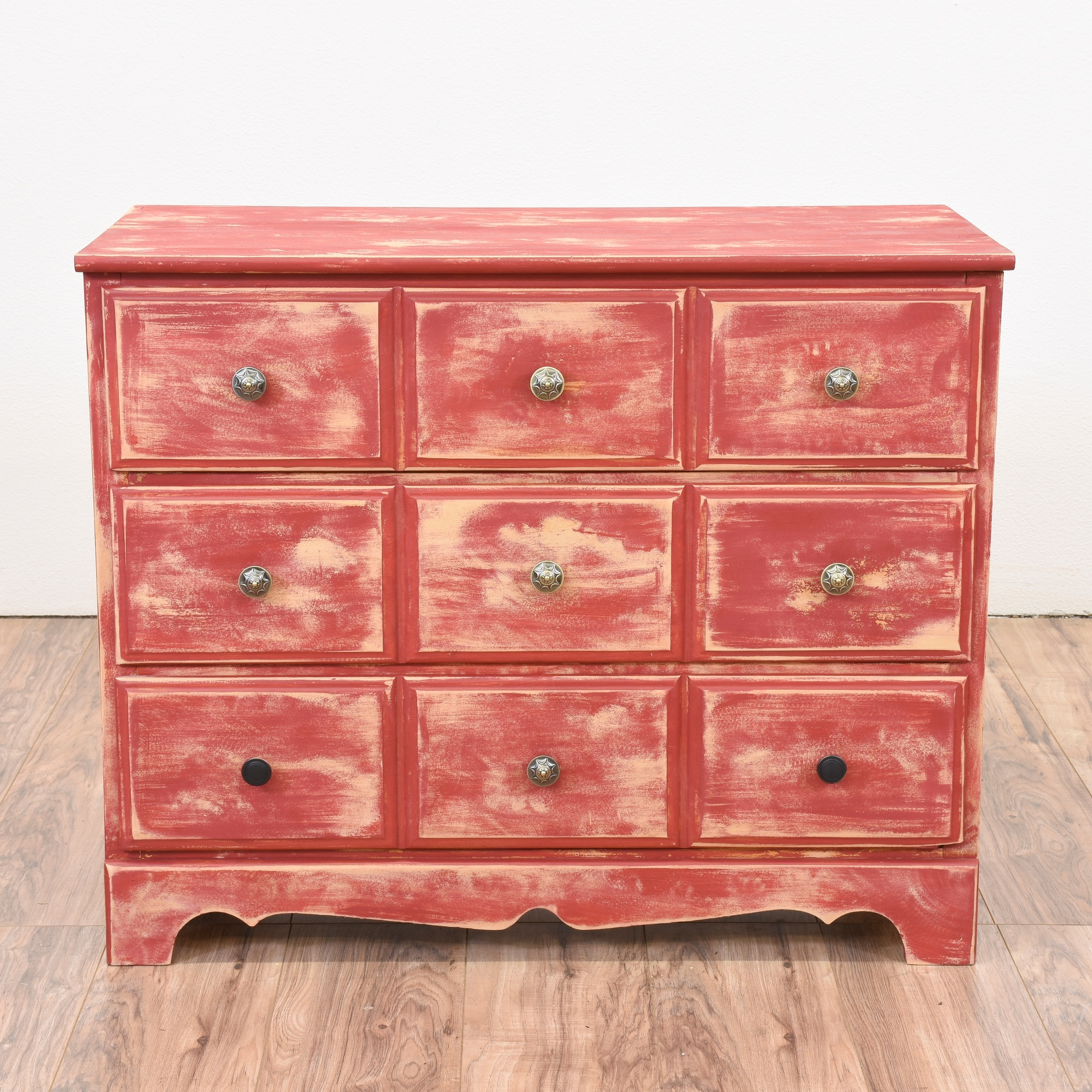 Outstanding Red Shabby Chic Chest Of Drawers Loveseat Vintage Download Free Architecture Designs Lukepmadebymaigaardcom