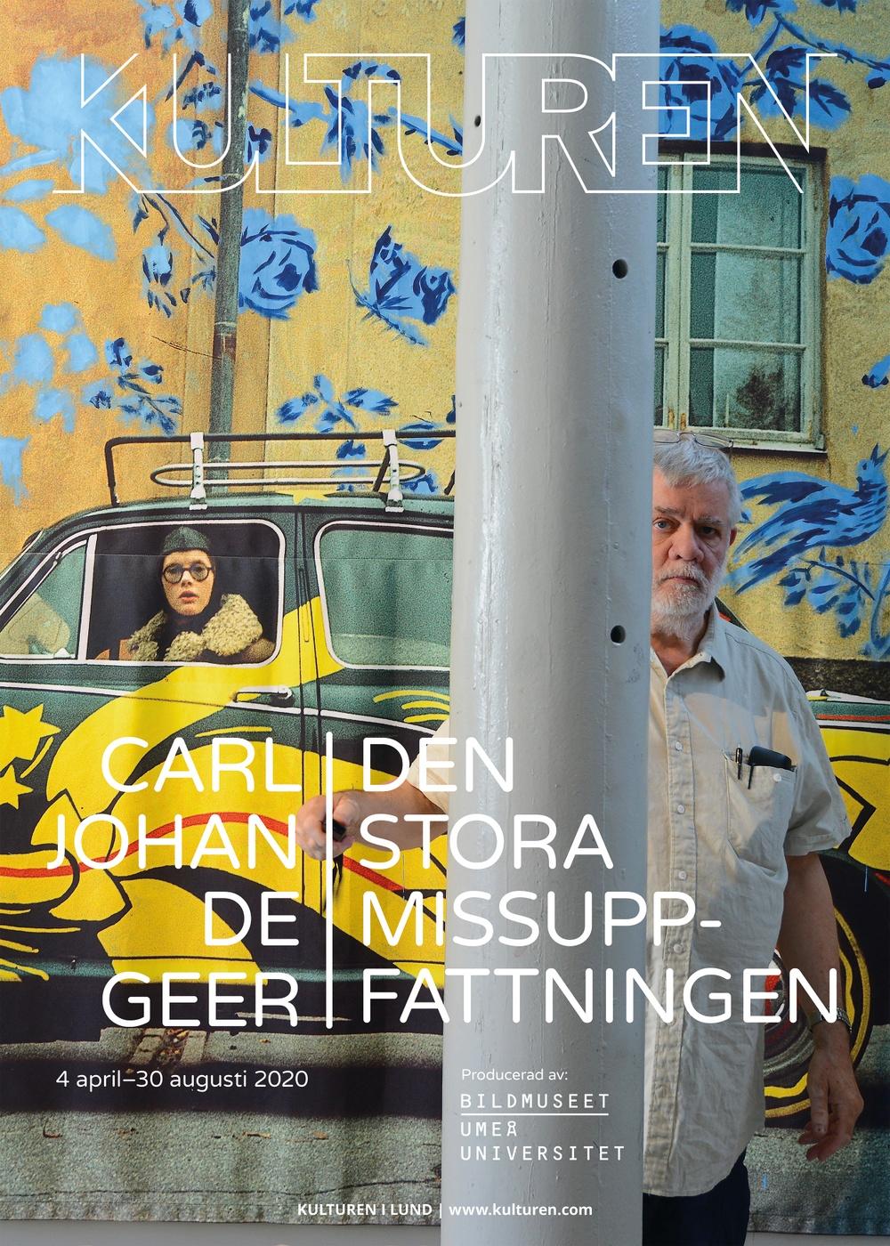 Utställningsaffisch Carl Johan De Geer – Den stora missuppfattningen