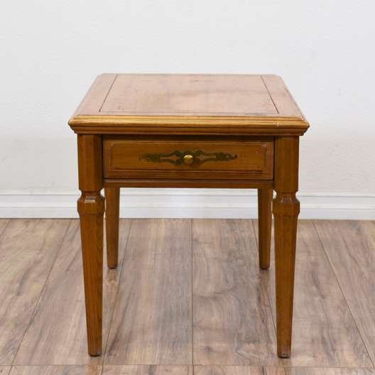 """""""Stanley"""" Traditional End Table w/ Drawer"""