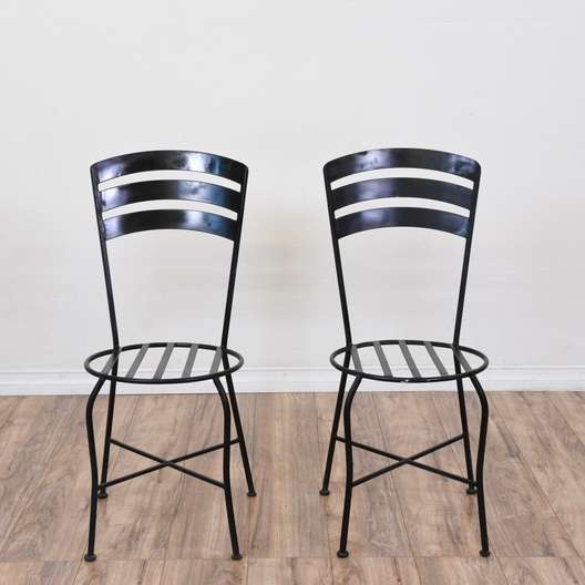 Pair of Iron Outdoor Patio Chairs
