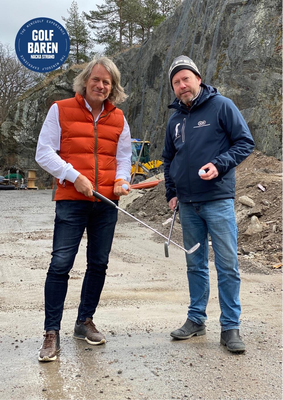 Golfbaren Nacka strands initiativtagare Hans Olofsson och Peter Eriksson.