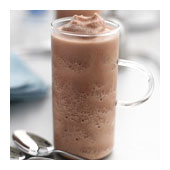 Freezing chocolate frappe
