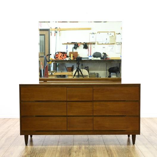 "Mid Century ""La Period"" Long Dresser w/ Mirror | Loveseat ..."